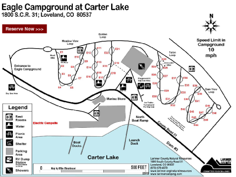 Carter Lake Eagle Campground Map | BSA Troop 767